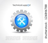 technical support vector icon | Shutterstock .eps vector #126846788