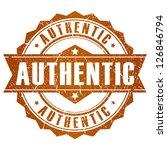 authentic vector stamp   Shutterstock .eps vector #126846794