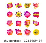 sale banner templates design.... | Shutterstock .eps vector #1268469499