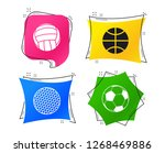 sport balls icons. volleyball ... | Shutterstock .eps vector #1268469886