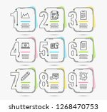infographic timeline set of... | Shutterstock .eps vector #1268470753