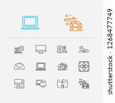 technology icons set. antivirus ...