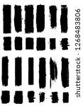grunge paint stripe . vector... | Shutterstock .eps vector #1268483806