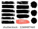 vector set of hand drawn brush... | Shutterstock .eps vector #1268487460