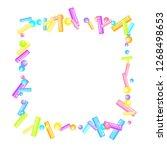 sprinkles grainy. sweet...   Shutterstock .eps vector #1268498653