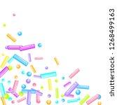 sprinkles grainy. sweet...   Shutterstock .eps vector #1268499163
