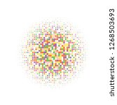 colorful halftone dots. rainbow ... | Shutterstock .eps vector #1268503693