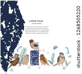 bird character illustration.... | Shutterstock .eps vector #1268505220