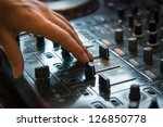 dj playng on professional... | Shutterstock . vector #126850778