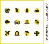 season icons set with lemonade  ...