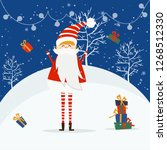 merry christmas and happy new... | Shutterstock .eps vector #1268512330