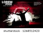 silhouette of a party crowd  ...   Shutterstock .eps vector #1268512423