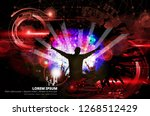 silhouette of a party crowd  ...   Shutterstock .eps vector #1268512429