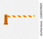 parking barrier icon. flat... | Shutterstock .eps vector #1268535829