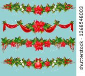 christmas garland with... | Shutterstock .eps vector #1268548003