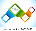 background with squares.... | Shutterstock .eps vector #126855650
