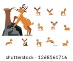 cartoon deer cute baby | Shutterstock .eps vector #1268561716