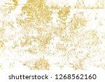 gold splashes texture. brush...   Shutterstock . vector #1268562160