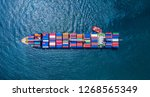 container ship vessel | Shutterstock . vector #1268565349