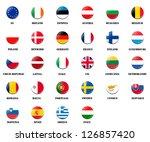 national flag ball of eu ... | Shutterstock . vector #126857420