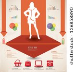 woman business and marketing... | Shutterstock .eps vector #126858890