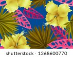 colourful seamless pattern with ... | Shutterstock . vector #1268600770