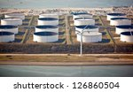 liquid bulk oil terminal  seen... | Shutterstock . vector #126860504