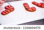 step by step. decorating... | Shutterstock . vector #1268606470