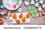 flat lay. step by step.... | Shutterstock . vector #1268606473