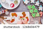 flat lay. step by step.... | Shutterstock . vector #1268606479