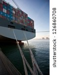 rear view of a container ship | Shutterstock . vector #126860708
