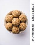 tilgul laddu or til gul balls... | Shutterstock . vector #1268613676