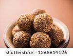 tilgul laddu or til gul balls... | Shutterstock . vector #1268614126