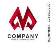 modern letter m logo design in... | Shutterstock .eps vector #1268617270