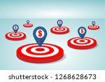 target goals concept   Shutterstock .eps vector #1268628673