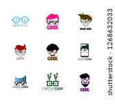 geek logo set. geek logo...   Shutterstock .eps vector #1268632033