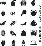 solid black vector icon set  ...   Shutterstock .eps vector #1268636209