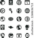 solid black vector icon set  ... | Shutterstock .eps vector #1268636713