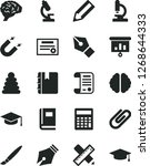 solid black vector icon set  ... | Shutterstock .eps vector #1268644333