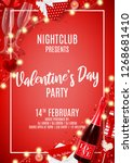 happy valentine's day party... | Shutterstock .eps vector #1268681410