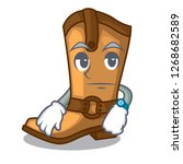 waiting leather cowboy boots...   Shutterstock .eps vector #1268682589