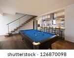 modern loft  room with billiard | Shutterstock . vector #126870098