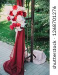 beautiful wedding archway. arch ... | Shutterstock . vector #1268701276