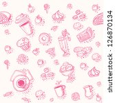 seamless vector pattern with a... | Shutterstock .eps vector #126870134