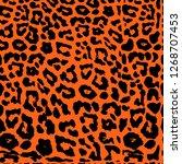 seamless leopard print. vector...   Shutterstock .eps vector #1268707453