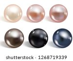 realistic different colors...   Shutterstock .eps vector #1268719339
