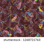 geometrical allover pattern... | Shutterstock . vector #1268721763