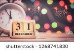 december 31st. day 31 of... | Shutterstock . vector #1268741830
