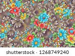 flower with abstract background | Shutterstock . vector #1268749240