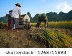 cao bang  vietnam 10 2018 ...   Shutterstock . vector #1268755693